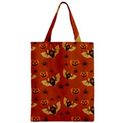 Bat, Pumpkin And Spider Pattern Zipper Classic Tote Bag by Valentinaart