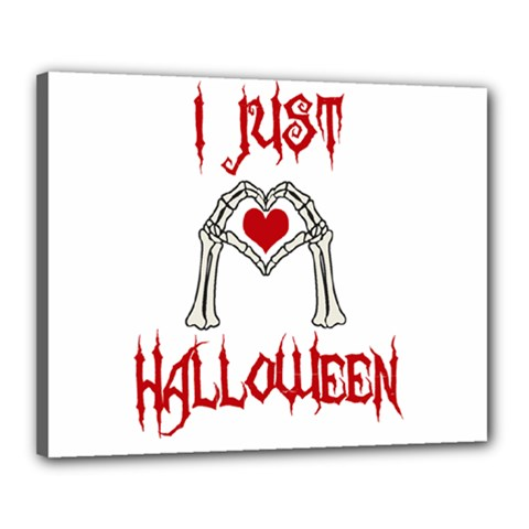 I Just Love Halloween Canvas 20  X 16  by Valentinaart