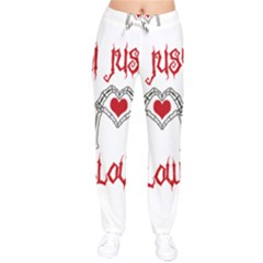 I Just Love Halloween Drawstring Pants by Valentinaart