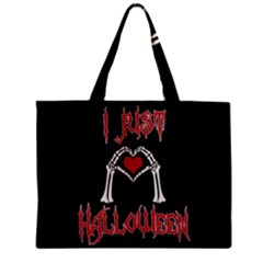 I Just Love Halloween Zipper Mini Tote Bag by Valentinaart