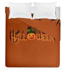 Halloween Duvet Cover Double Side (queen Size) by Valentinaart
