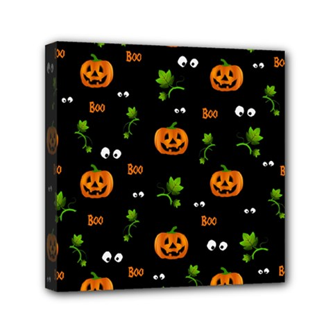 Pumpkins   Halloween Pattern Mini Canvas 6  X 6  by Valentinaart