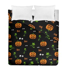 Pumpkins   Halloween Pattern Duvet Cover Double Side (full/ Double Size) by Valentinaart