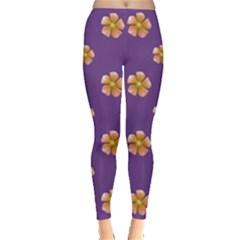 Ditsy Floral Pattern Design Leggings  by dflcprints