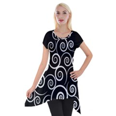 Abstract Spiral Christmas Tree Short Sleeve Side Drop Tunic by Mariart