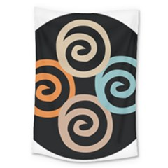 Abroad Spines Circle Large Tapestry by Mariart