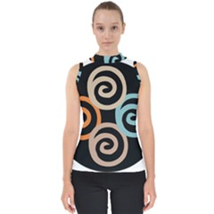 Abroad Spines Circle Shell Top by Mariart