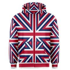 Alternatively Mega British America Men s Zipper Hoodie by Mariart