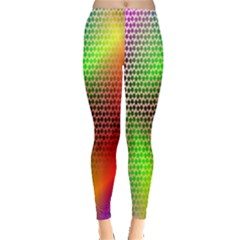 Abstract Rainbow Pattern Colorful Stars Space Leggings  by Mariart