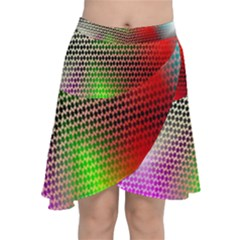 Abstract Rainbow Pattern Colorful Stars Space Chiffon Wrap