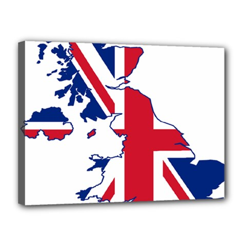 Britain Flag England Nations Canvas 16  X 12  by Mariart