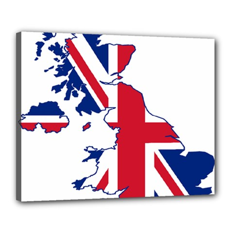 Britain Flag England Nations Canvas 20  X 16  by Mariart