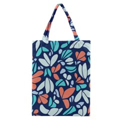 Blue Tossed Flower Floral Classic Tote Bag by Mariart