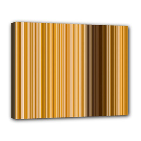 Brown Verticals Lines Stripes Colorful Canvas 14  X 11  by Mariart