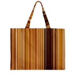 Brown Verticals Lines Stripes Colorful Zipper Mini Tote Bag by Mariart