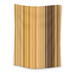 Brown Verticals Lines Stripes Colorful Medium Tapestry by Mariart