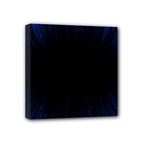 Colorful Light Ray Border Animation Loop Blue Motion Background Space Mini Canvas 4  X 4  by Mariart