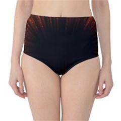 Colorful Light Ray Border Animation Loop Orange Motion Background Space High Waist Bikini Bottoms