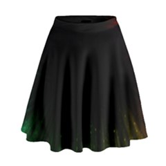 Colorful Light Ray Border Animation Loop Rainbow Motion Background Space High Waist Skirt by Mariart