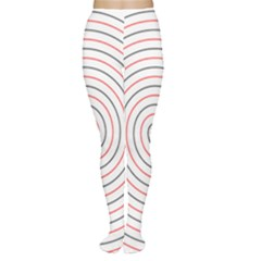 Double Line Spiral Spines Red Black Circle Women s Tights by Mariart