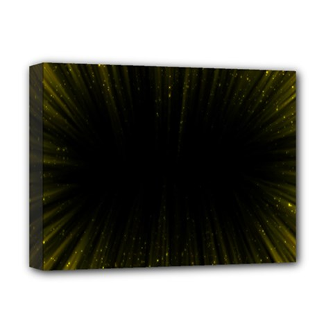 Colorful Light Ray Border Animation Loop Yellow Deluxe Canvas 16  X 12   by Mariart