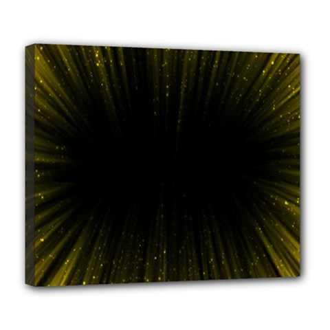 Colorful Light Ray Border Animation Loop Yellow Deluxe Canvas 24  X 20   by Mariart