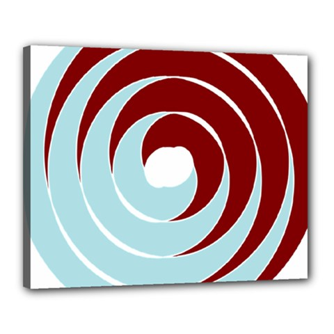 Double Spiral Thick Lines Blue Red Canvas 20  X 16  by Mariart