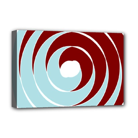 Double Spiral Thick Lines Blue Red Deluxe Canvas 18  X 12   by Mariart