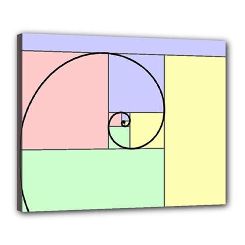 Golden Spiral Logarithmic Color Canvas 20  X 16  by Mariart