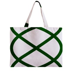 Lissajous Small Green Line Mini Tote Bag by Mariart