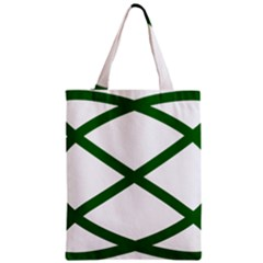 Lissajous Small Green Line Zipper Classic Tote Bag by Mariart