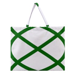 Lissajous Small Green Line Zipper Large Tote Bag by Mariart
