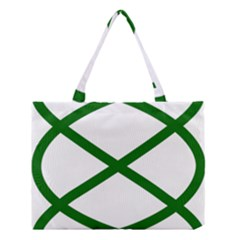Lissajous Small Green Line Medium Tote Bag by Mariart