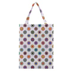 Flowers Pattern Recolor Artwork Sunflower Rainbow Beauty Classic Tote Bag by Mariart