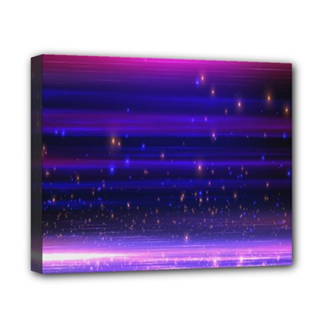 Massive Flare Lines Horizon Glow Particles Animation Background Space Canvas 10  X 8  by Mariart