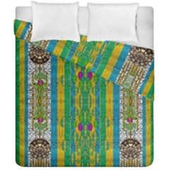 Rainbows Rain In The Golden Mangrove Forest Duvet Cover Double Side (california King Size) by pepitasart