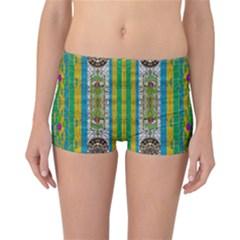 Rainbows Rain In The Golden Mangrove Forest Reversible Boyleg Bikini Bottoms