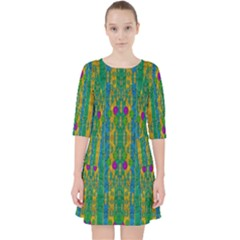 Rainbows Rain In The Golden Mangrove Forest Pocket Dress