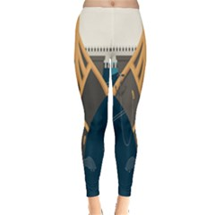 Planetary Resources Exploration Asteroid Mining Social Ship Leggings  by Mariart