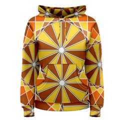 Ornaments Art Line Circle Women s Pullover Hoodie by Mariart