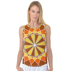 Ornaments Art Line Circle Women s Basketball Tank Top by Mariart