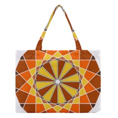 Ornaments Art Line Circle Medium Tote Bag by Mariart