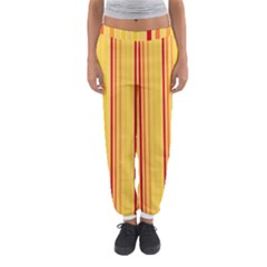 Red Orange Lines Back Yellow Women s Jogger Sweatpants