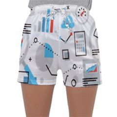 Science Mathematics Formula Sleepwear Shorts