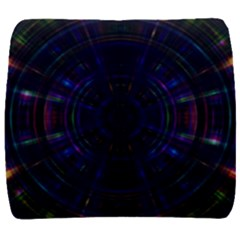 Psychic Color Circle Abstract Dark Rainbow Pattern Wallpaper Back Support Cushion