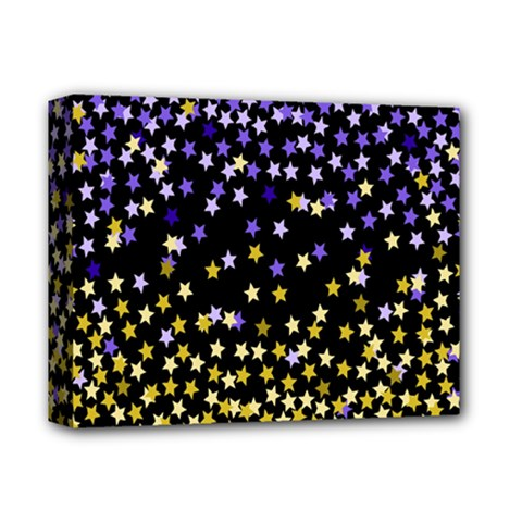 Space Star Light Gold Blue Beauty Deluxe Canvas 14  X 11  by Mariart