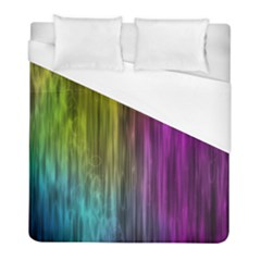 Rainbow Bubble Curtains Motion Background Space Duvet Cover (full/ Double Size) by Mariart