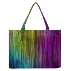 Rainbow Bubble Curtains Motion Background Space Zipper Medium Tote Bag by Mariart