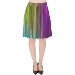 Rainbow Bubble Curtains Motion Background Space Velvet High Waist Skirt by Mariart