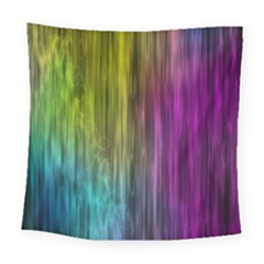 Rainbow Bubble Curtains Motion Background Space Square Tapestry (large) by Mariart